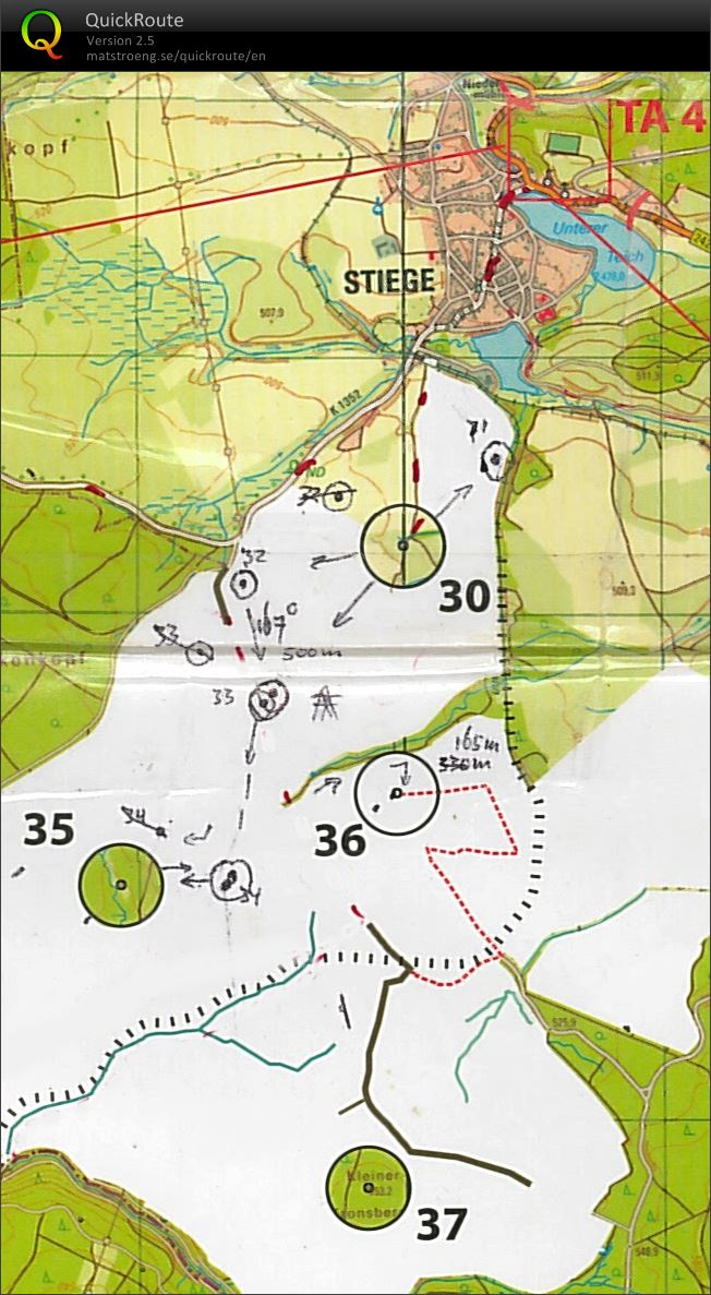 The hARz 2018 - section 8: Compass Bearing Orienteering (map) (22/04/2018)
